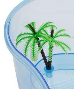 aquarium tortue avec palmier