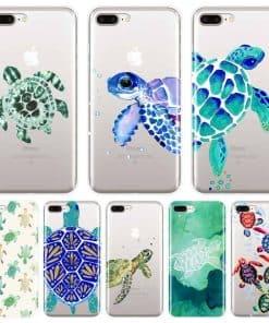 Huit Coques Tortue de Mer Mandala pour iPhone