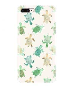 coque iphone tortues vertes et beige