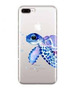 coque iphone tortue bleue de profil