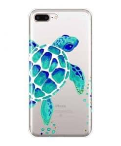 coque iphone tortue bleue et verte