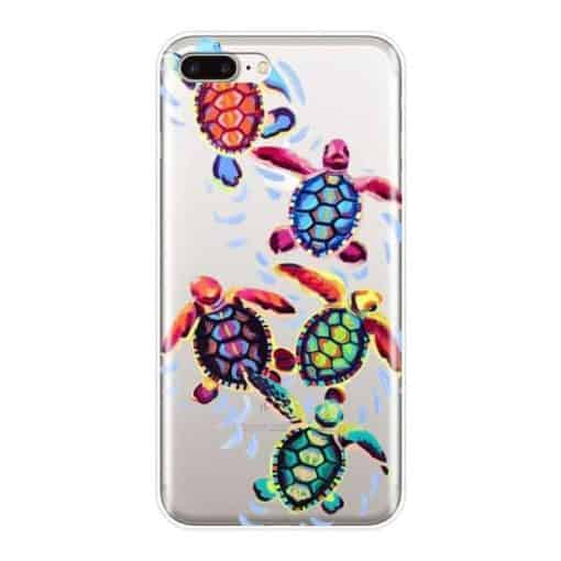 coque iphone tortues maories colorees