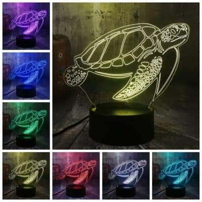 Lampe 3D Tortue de Mer Tactile 7 couleurs