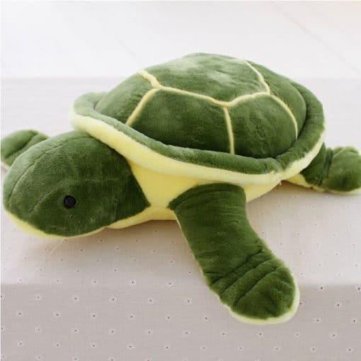 peluche tortue verte entiere
