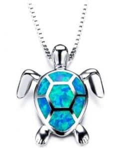 Pendentif Tortue Myriade de couleurs - bleu