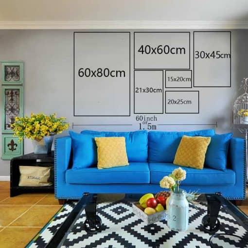 Format des différentes photos pour affichages sur les murs