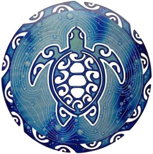 Symbole Tortue Maorie aux 4 Vents plein
