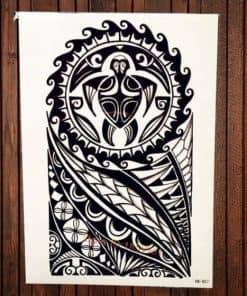Tatouage Tortue Maorie Sacrée pour Femmes et Hommes
