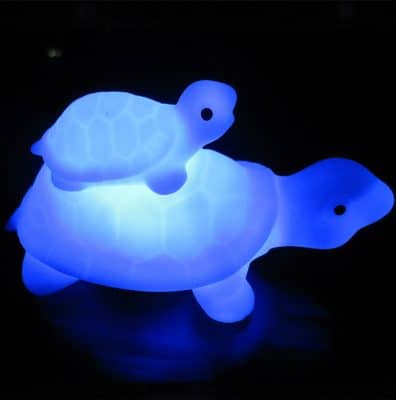 veilleuse tortue bleue