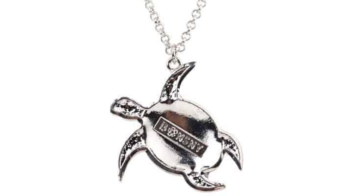 dos du collier tortue à motif