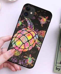coque pour iPhone avec dessin de tortue, protection maximale