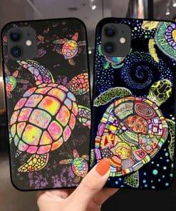 Coque iphone tortue féerique et aquarelle - modèles récent d'iPhone