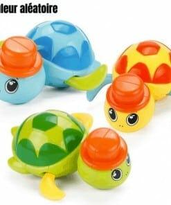 jouet tortue à chapeau en plastique pour le bain des enfants