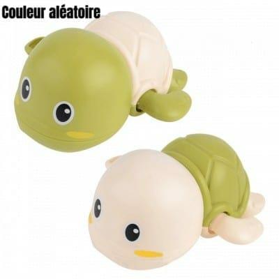 jouet tortue verte en plastique pour le bain des enfants