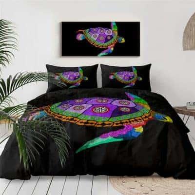 Parure de lit tortue à carapace violette