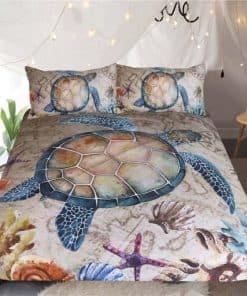 Parure de lit tortue et coquillages