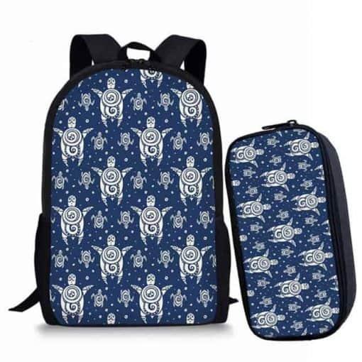 Sac à dos tortue paradis bleuté azur polynésien