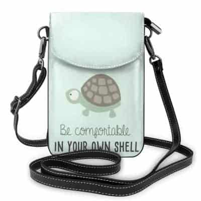 sac en bandoulière tortue be comfortable in your own shell
