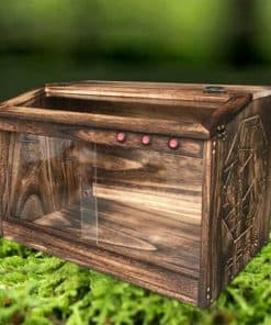 Terrarium tortue de terre en bois de paulownia