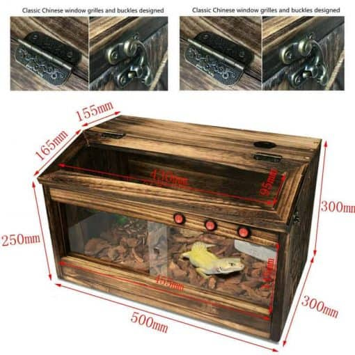 Informations terrarium tortue de terre en bois