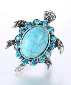 bague tortue avec 14 cristaux vue du dessus