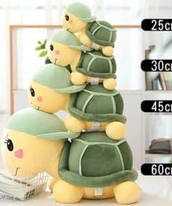 4 tailles pour Chloe la tortue en peluche