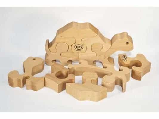Puzzle Tortue en Bois Veritable avec ses pieces