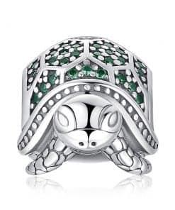 face du charme de bracelet tortue