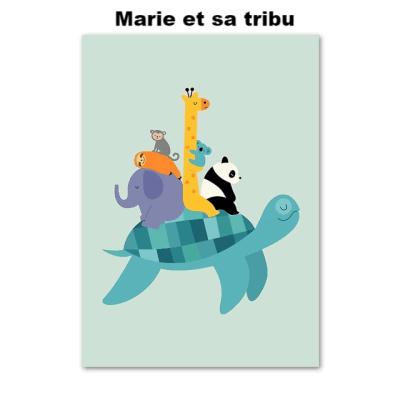 dessin de tortue marie la tortue et sa tribu