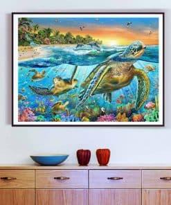 Tableau de tortue dans la maison