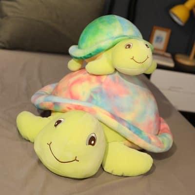 la maman tortue et son bébé