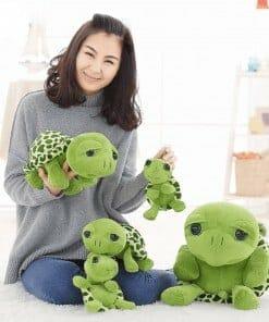 Les peluches tortues vertes