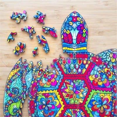 pièces de puzzle tortue