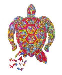 puzzle tortue mandala pour enfants et adultes