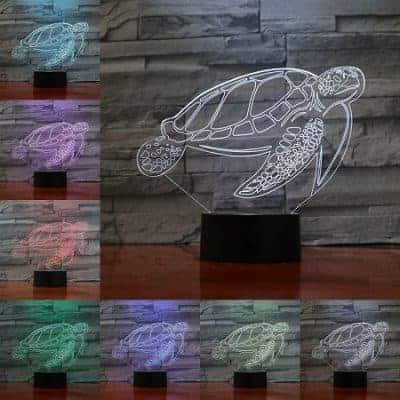 Veilleuse tortue de mer 3D