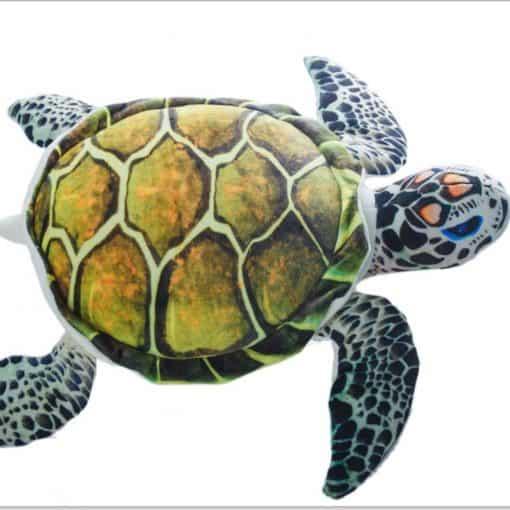 peluche tortue de mer bleue