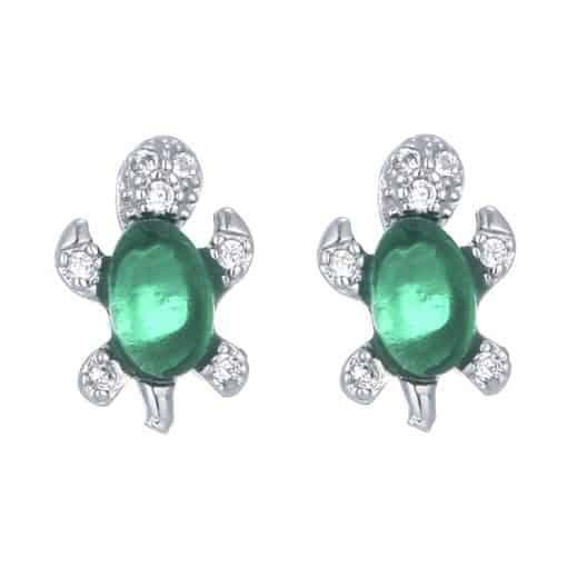 Adorable boucles d'oreille tortue Jade