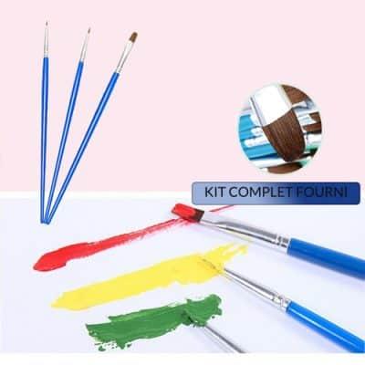 kit complet facile pinceaux et peinture acrylique
