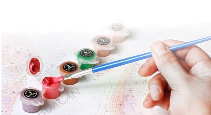 peinture avec numéros repères facile DIY