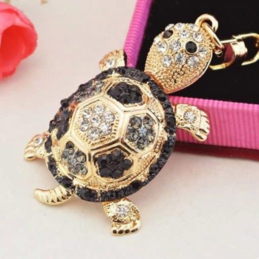pendentif tortue noir