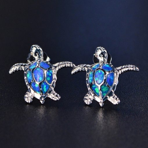 bijoux tortue cristal bleu