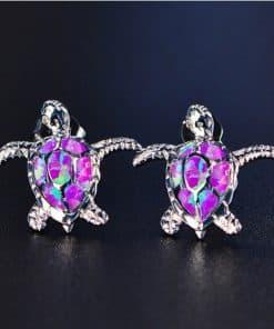 bijoux oreille couleur violet