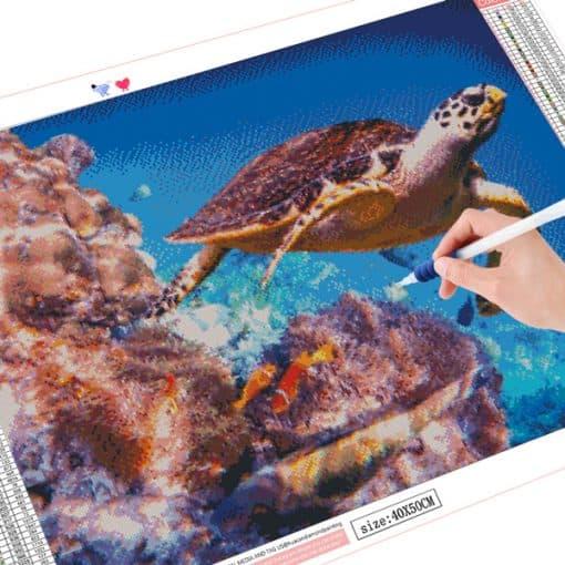 peinture diamant photo de tortue