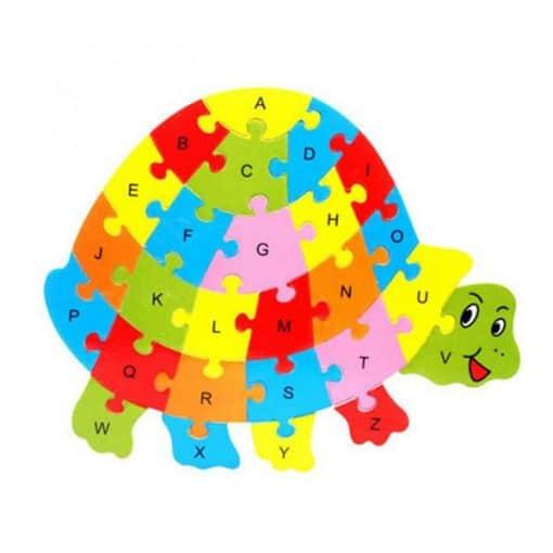 puzzle alphabet jouet tortue éducatif