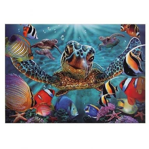 puzzle tortue sous marine puzzle 1000 pièces