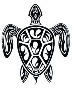 tatouage tortue de mer minimaliste