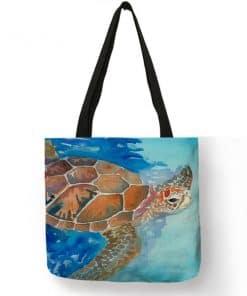 dessin de tortue sur sac fourre-tout