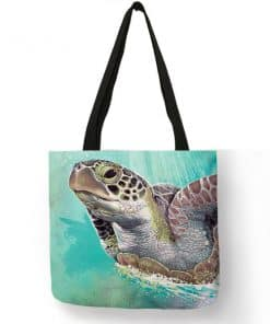 peinture tortue sur sac