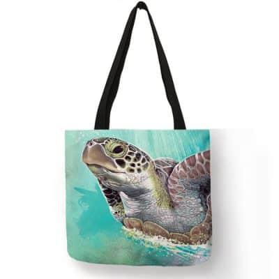 pastel photo de tortue sur sac à bandoulière