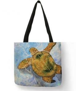 dessin tortue sur sac